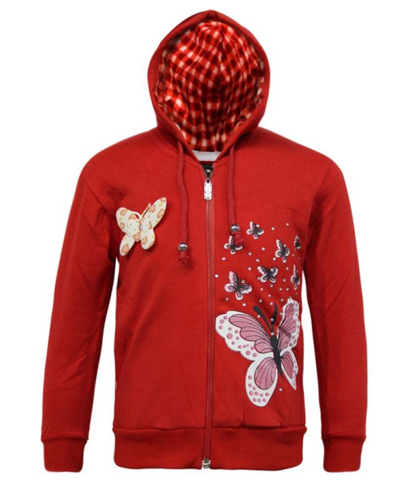 Kothari Red Fleece Hooded Sweatshirt