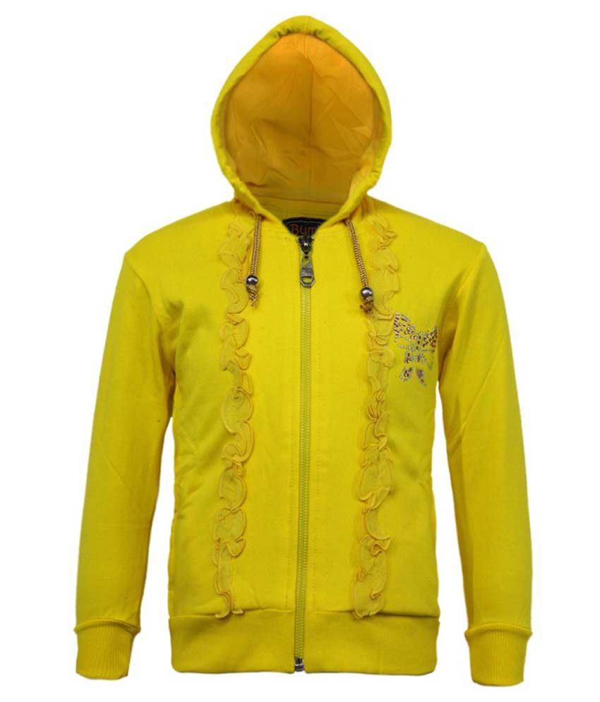 Kothari Yellow Fleece Hooded Sweatshirt