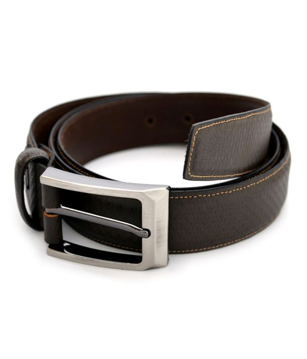 Urban Diseno Brown Leather Belt For Men