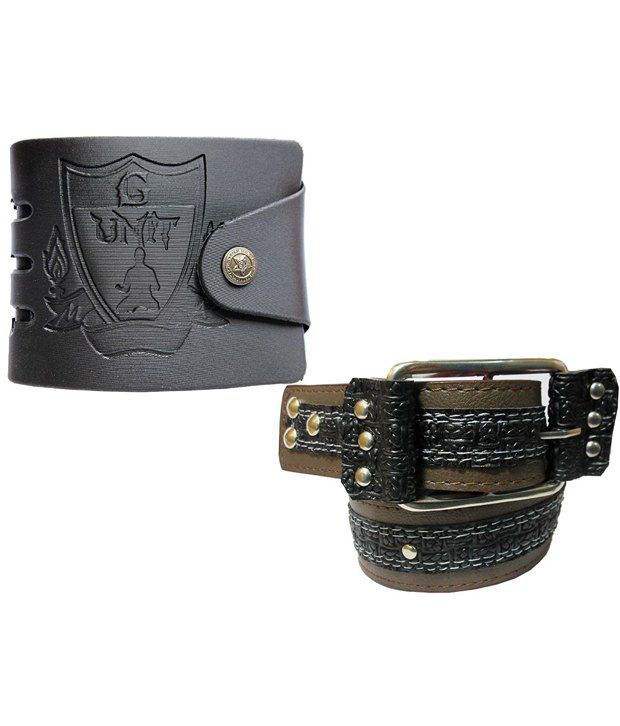 Apki Needs Combo Of Brown Casual Belt With Wallet For Men
