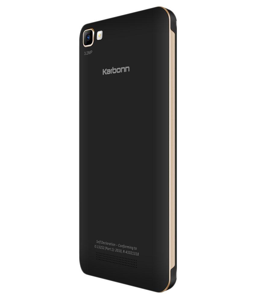 Phone New Karbonn Android Phone karbonn k9 smart 512 mb ram 8gb black gold buy gold