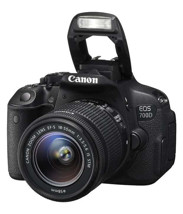 Buy Canon EOS 700D 18 MP DSLR Camera with 18-55 mm + 55-250 mm ...