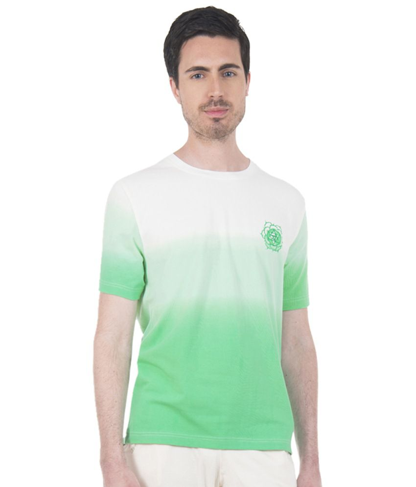 Douspeakgreen Green & White Heart Chakra Yoga T Shirt