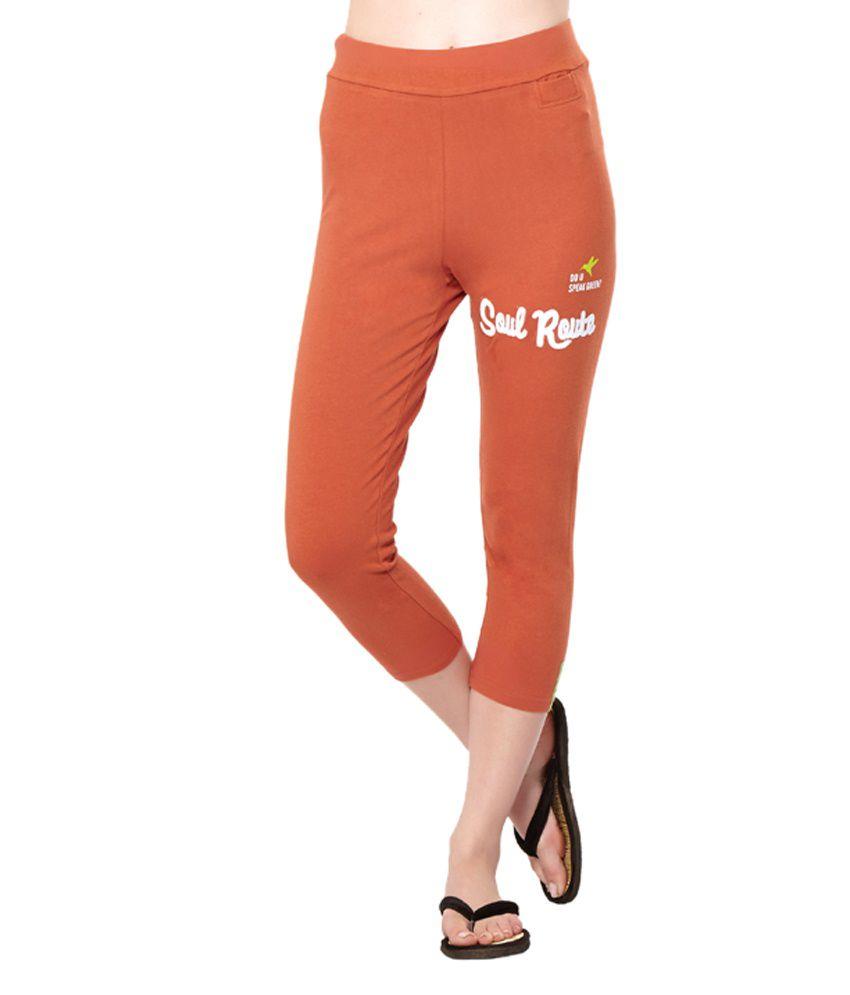 Douspeakgreen Orange Muladhara Chakra Yoga Capris