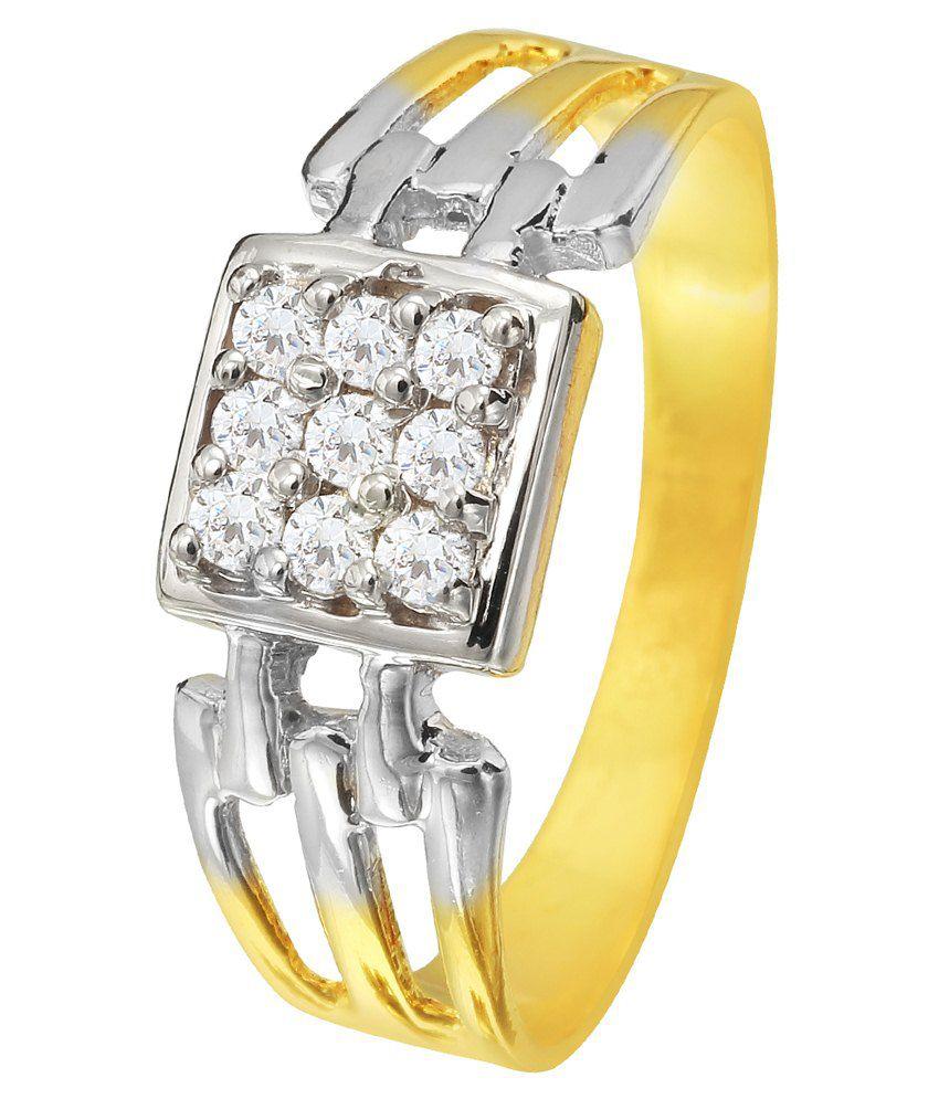Pallak Bis Hallmarked Golden & Silver 22kt Ring
