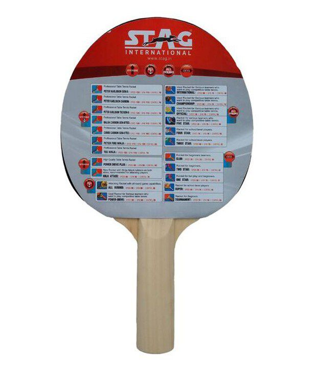 36523129b8 Stag 1 Star Table Tennis Racket: Buy Online at Best Price on Snapdeal