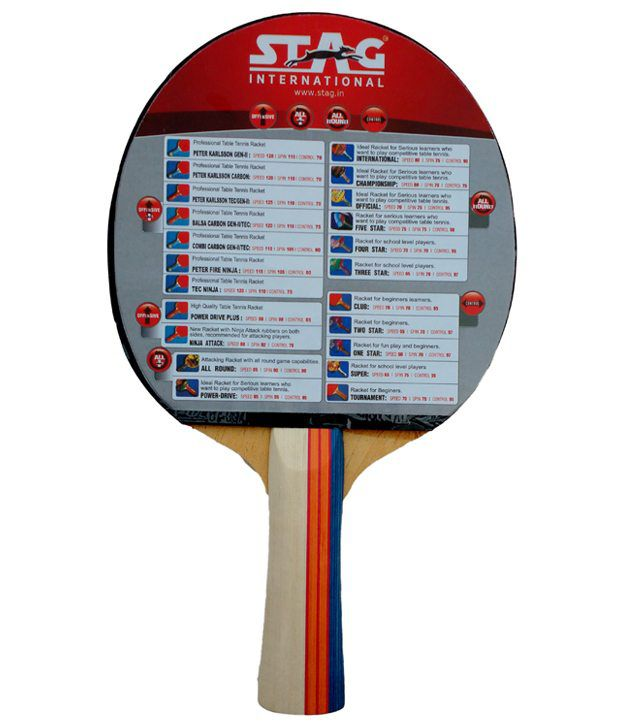 Stag Official Table Tennis Racket Buy Online At Best