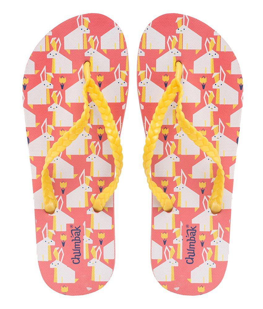 Chumbak Yellow Flip Flops