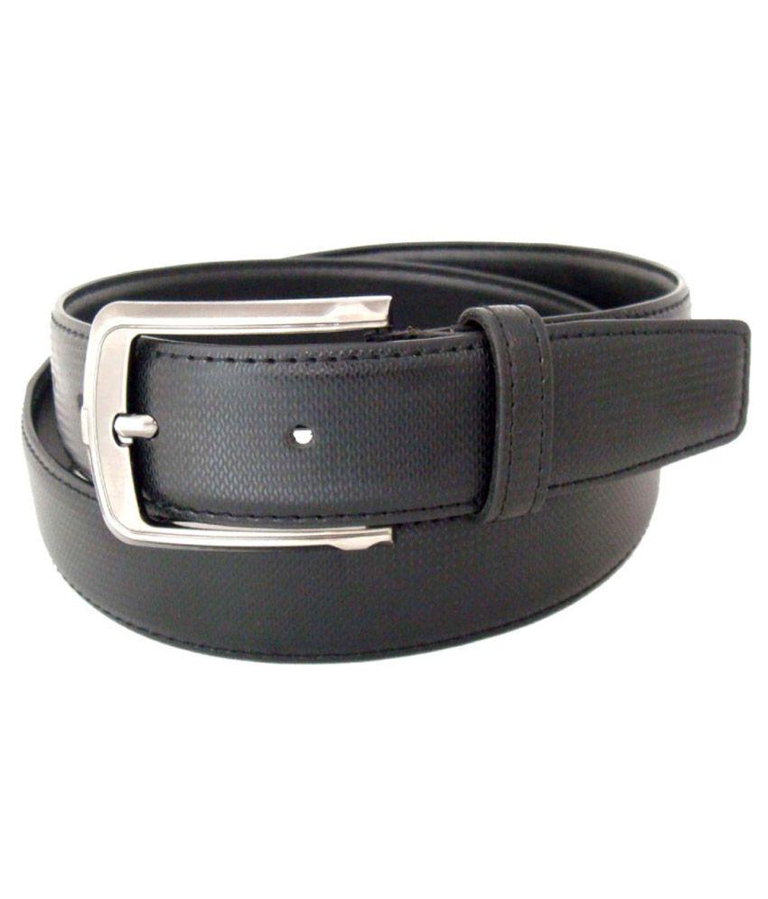Sfa Black Formal Single Belt For Men