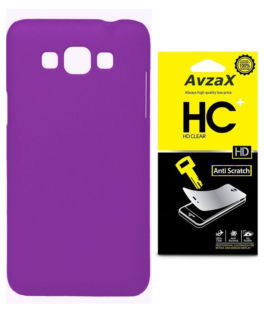 Avzax Back Cover For Samsung Galaxy S3-purple With Screen Guard
