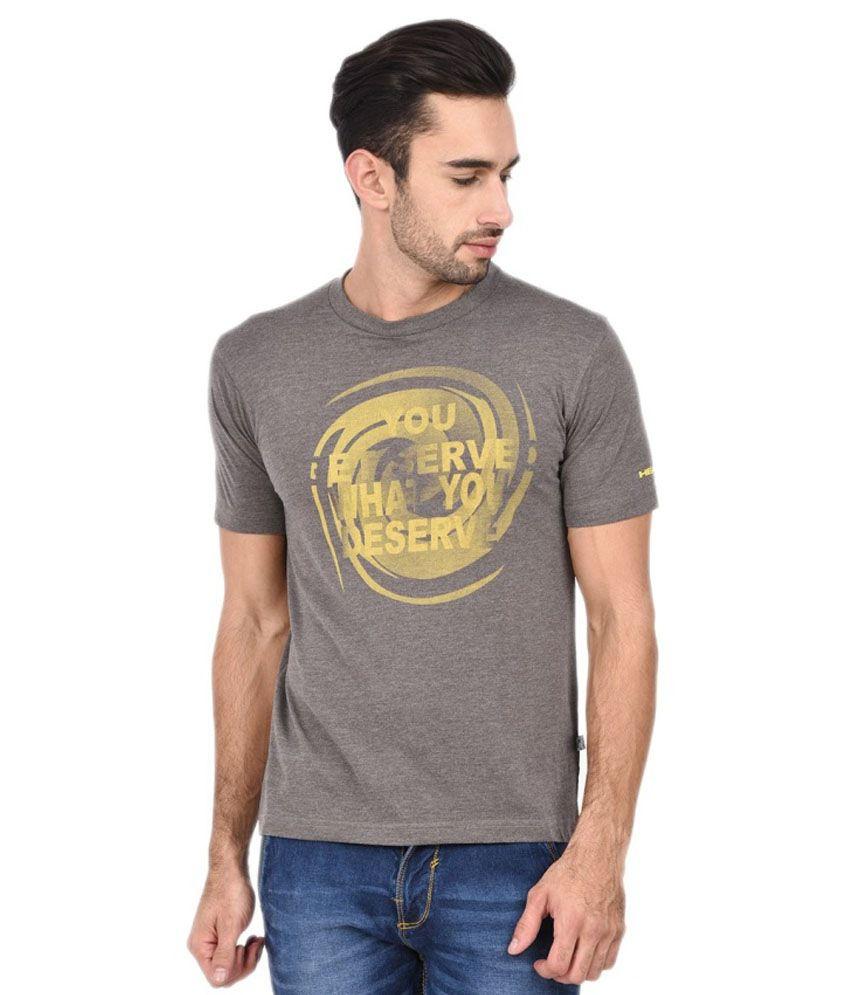 Head Grey Polyester T-shirt
