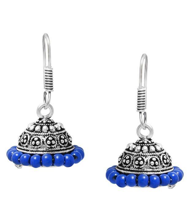 Jewelz Silver Alloy Jhumki Earrings