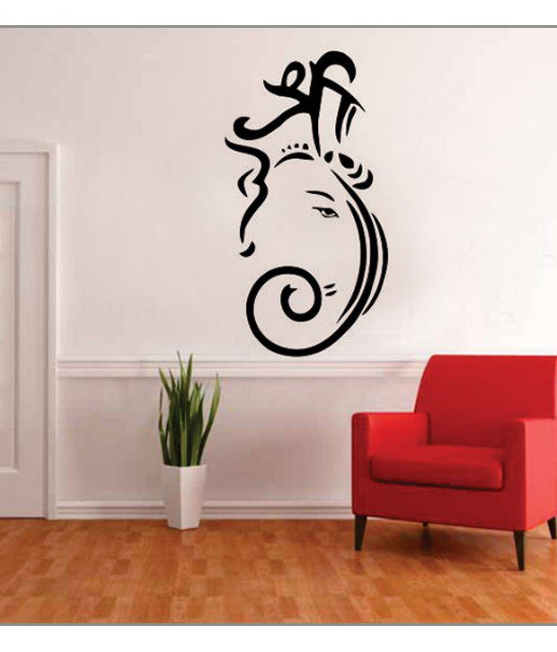 impression wall shri ganesh wall sticker - buy impression wall shri