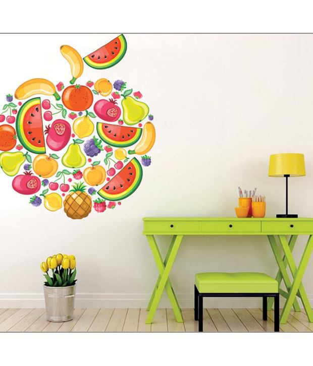 impression wall vegetable apple wall sticker - buy impression wall
