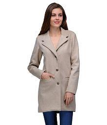 Natty India Beige Woollen Jackets