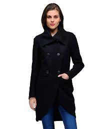 Natty India Black Woollen Jackets