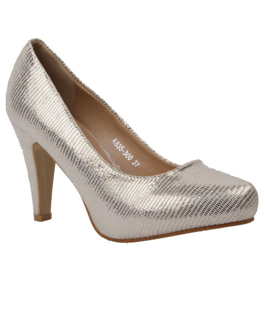 Foot Candy Silver Cone Heels