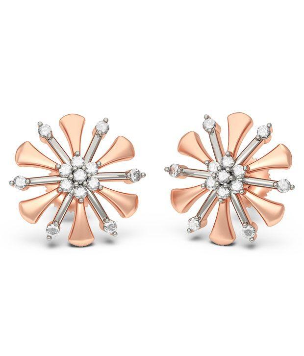 BlueStone 14K Rose Gold Diamond Quilo Earrings