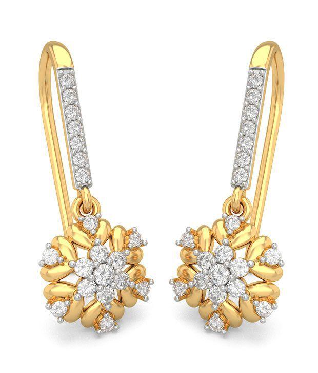BlueStone 18K Yellow Gold Diamond Leslie Earrings