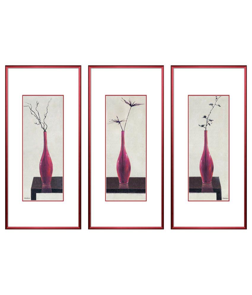 Elegant Arts & Frames Print Picture With Metal Frame - Set Of 3