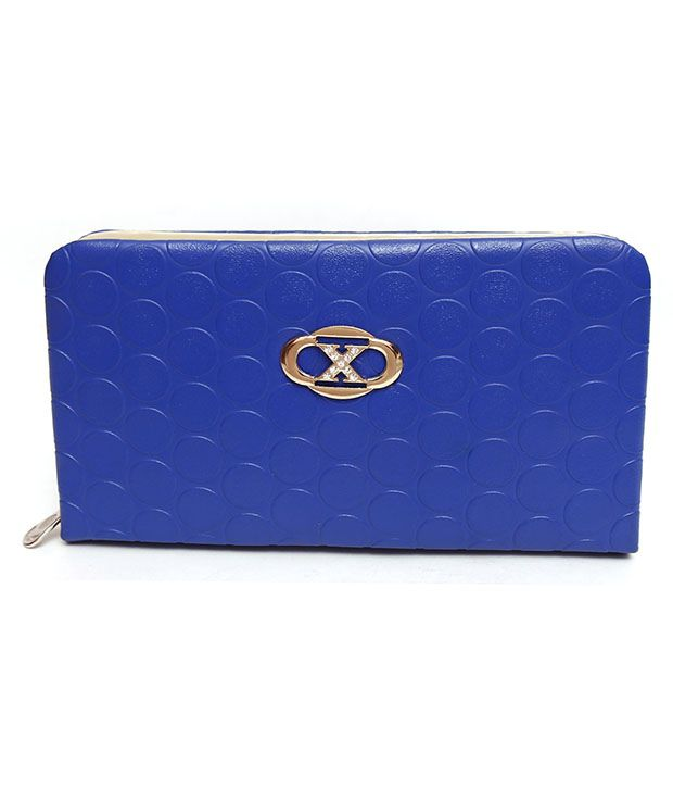 Parth Collection Blue Clutch For Women