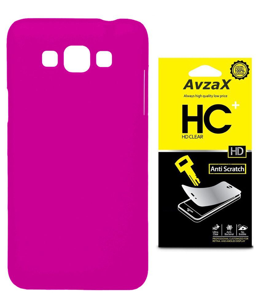 competitive price 303bc c61f8 Avzax Back Cover For Samsung Galaxy Core Prime G360-pink With Screen Guard