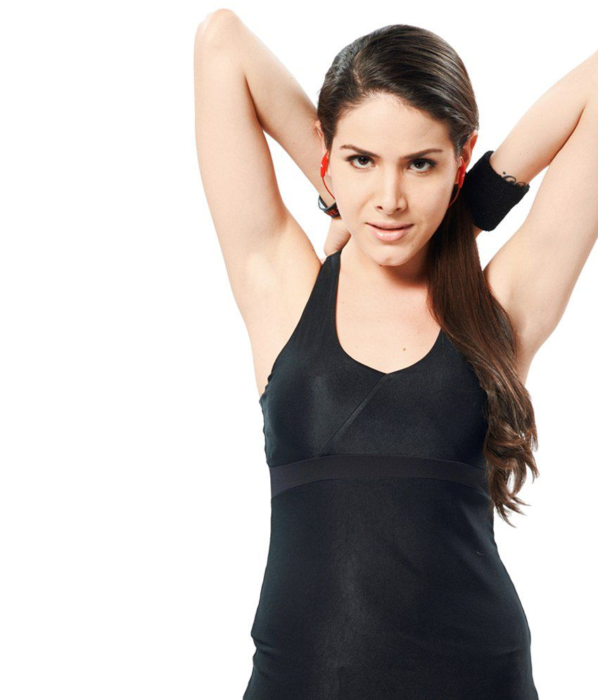 Restless Black Stretchable Singlet