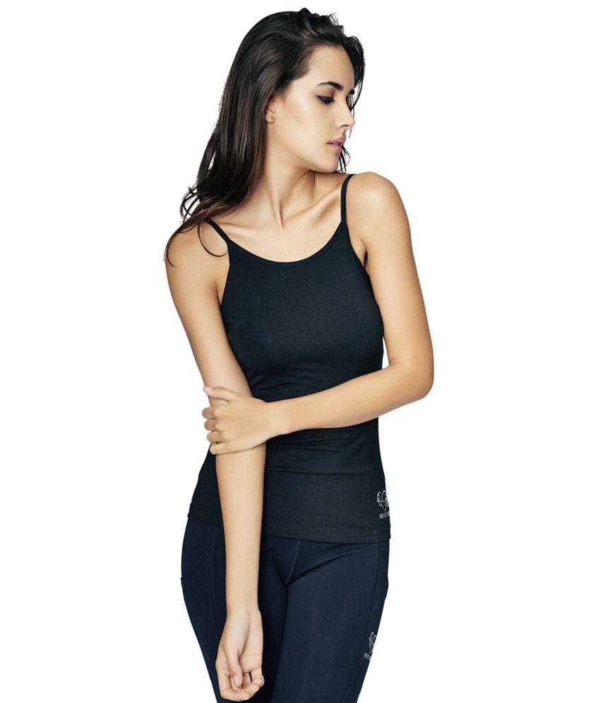 Restless Black Stretchable Singlet