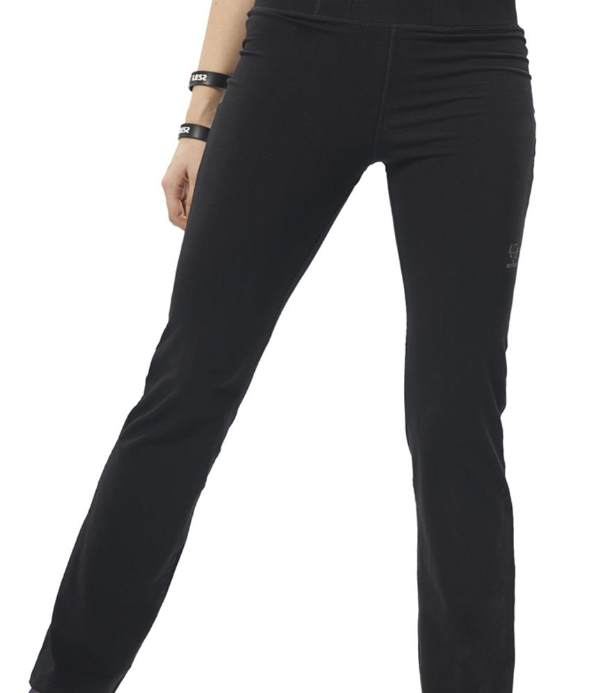 Restless Black Stretchable Sports Trackpants