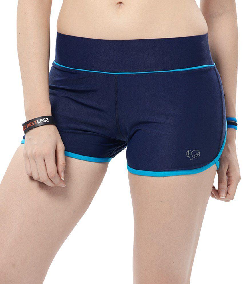 Restless Blue Stretchable Sports Shorts
