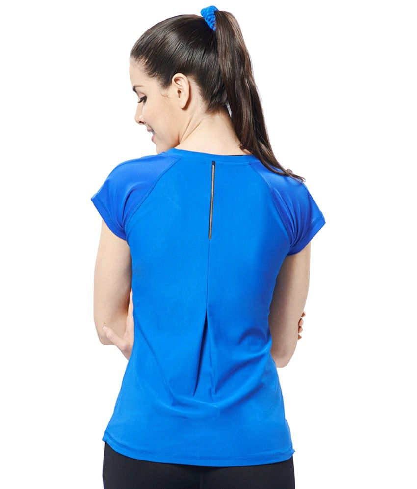 Restless Blue Stretchable Sports T Shirt