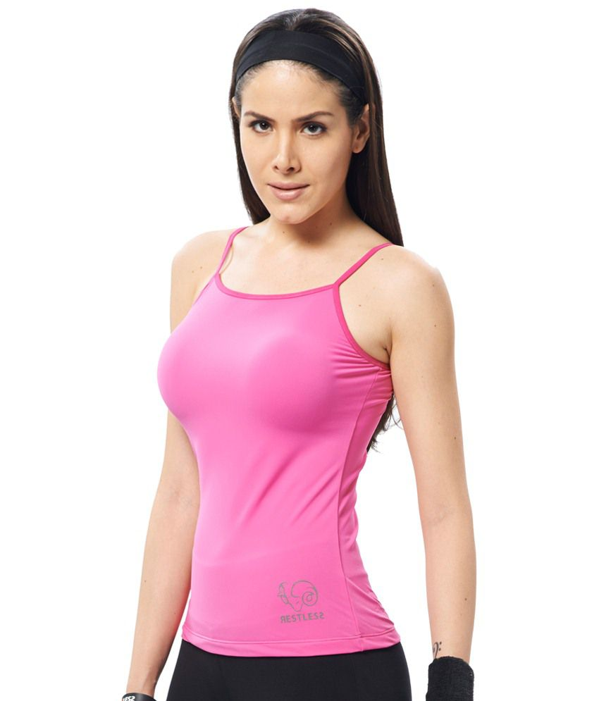 Restless Pink Stretchable Singlet