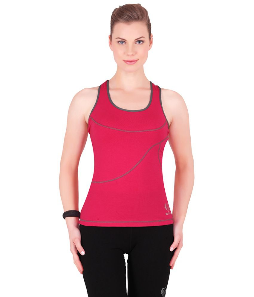 Restless Pink Stretchable Singlet