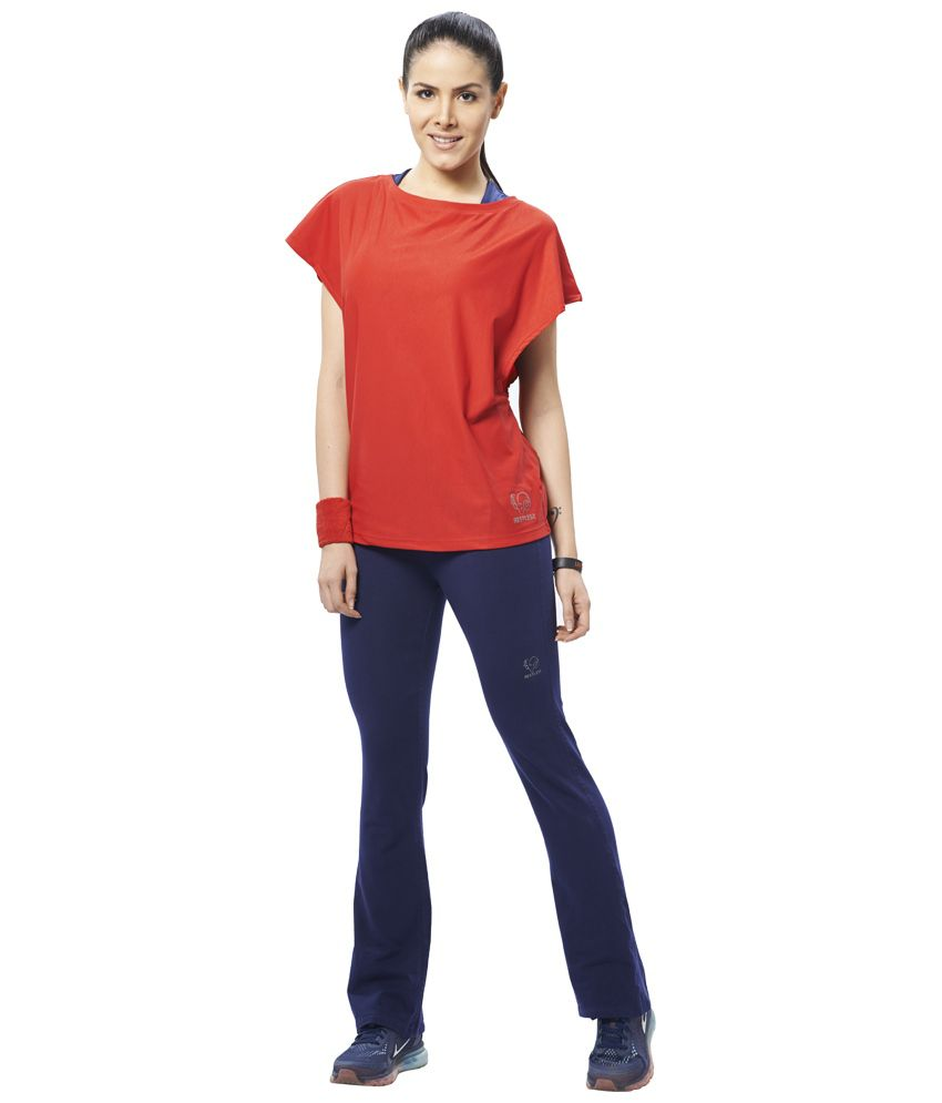 Restless Red Stretchable Sports Top