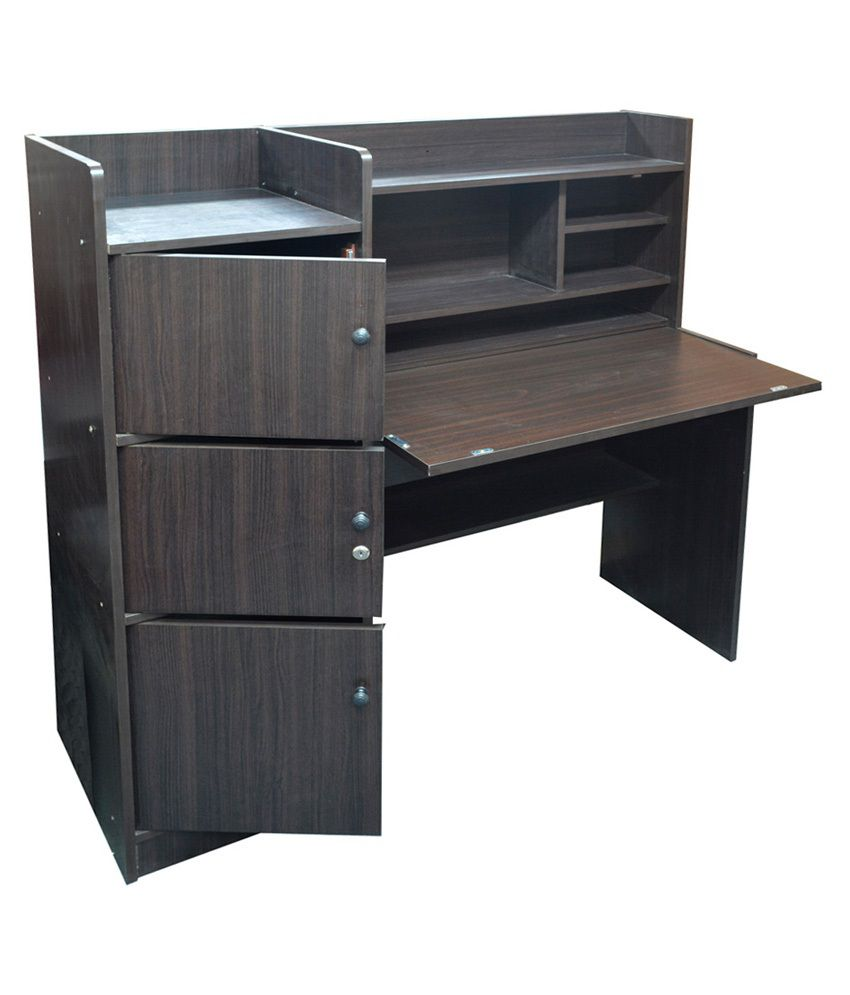 desks espresso simplistic kitchen bin com dp jaya computer brown furinno drawers study desk dining amazon with