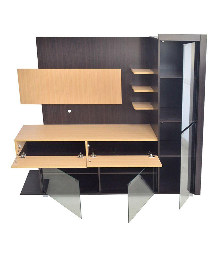 eros tv wall unit cum display cabinet table buy eros tv wall unit rh snapdeal com