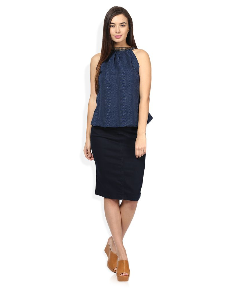 Buy Pepe Jeans Blue Pencil Skirt Online at Best Prices in India ... 02cd625f5