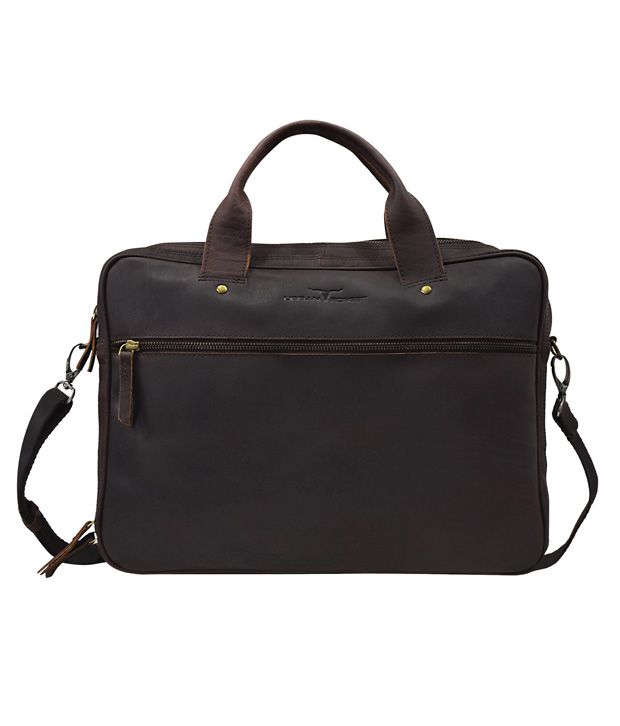 Urban Forest Brown Leather Joey Laptop Bag