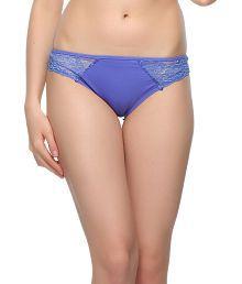 Clovia Purple Polyamide With Spandex,lace Panties
