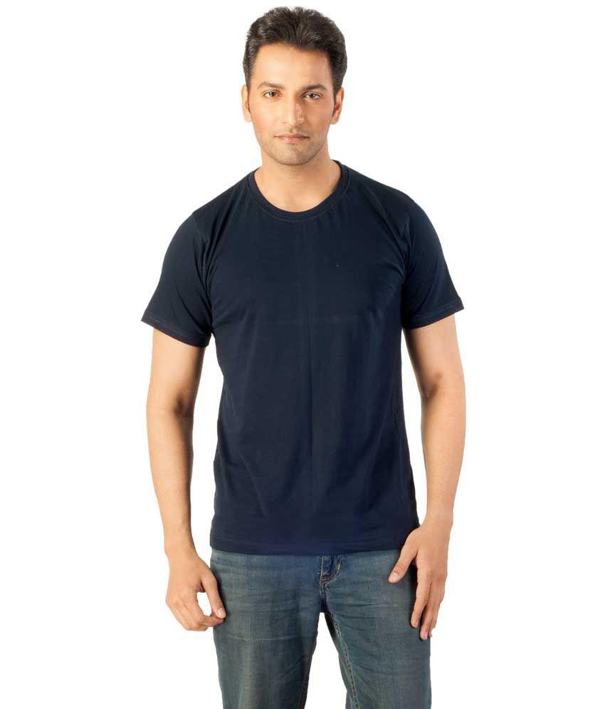 Voce Round Neck Dark Blue Tshirt For Men