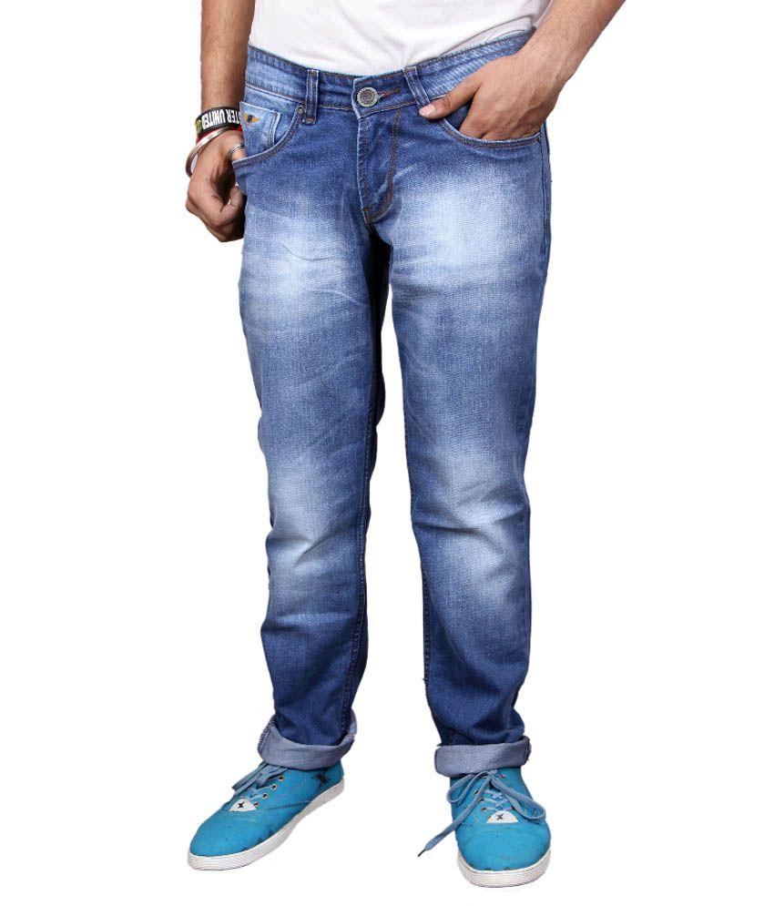 Genes Blue Regular Fit Jeans