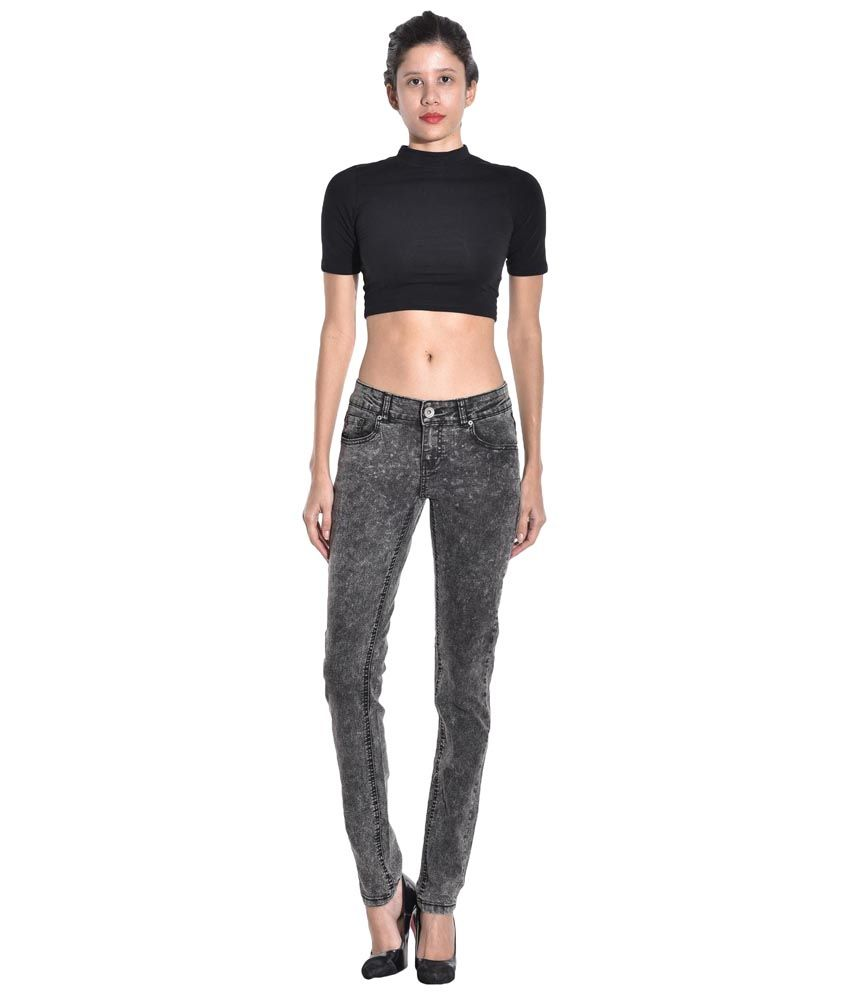 Kotty Gray Stretchable Slim Fit Poly Cotton Jeans