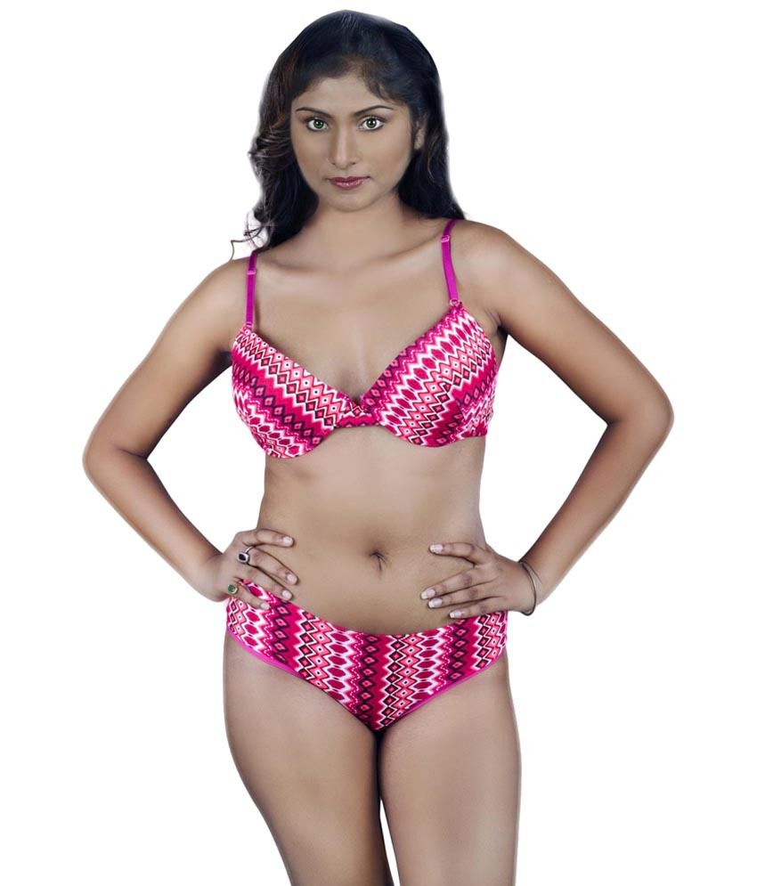 6844c47cd Buy Kotty Pink Printed Bra   Panty Set Online at Best Prices in India -  Snapdeal