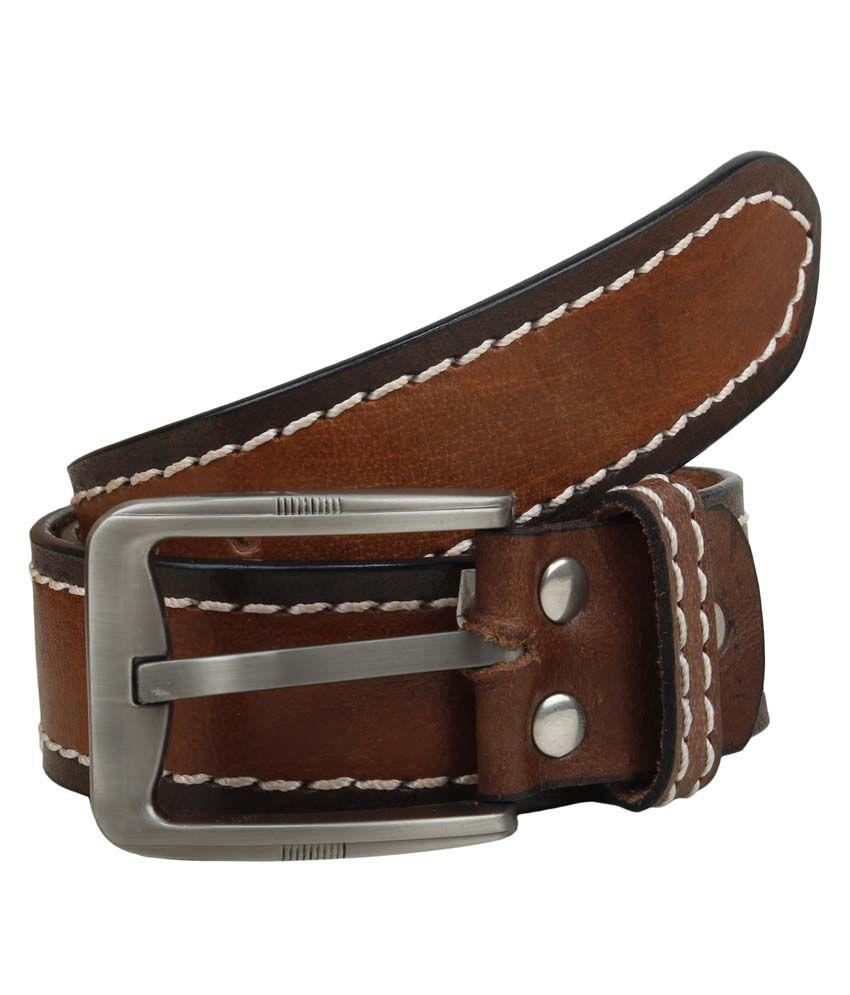 Mauri Tan Leather Formal Belt