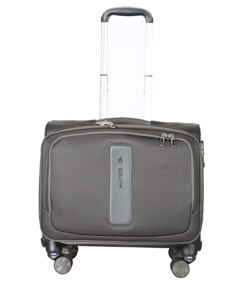 30140513e232 Sonada Grey Bm91835 Laptop 4 Wheel Trolley Case available at SnapDeal for  Rs.5000