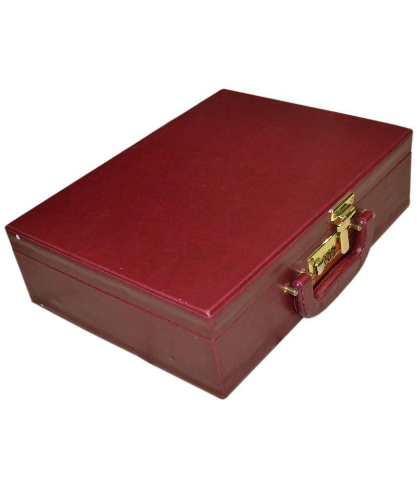 Styler Maroon Wooden Jewellery Box