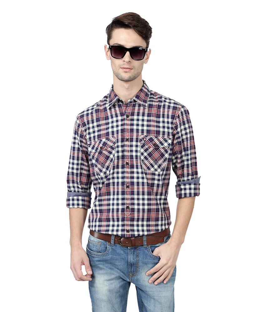 Allen Solly Multicolour Cotton Regular Fit Casual Shirt
