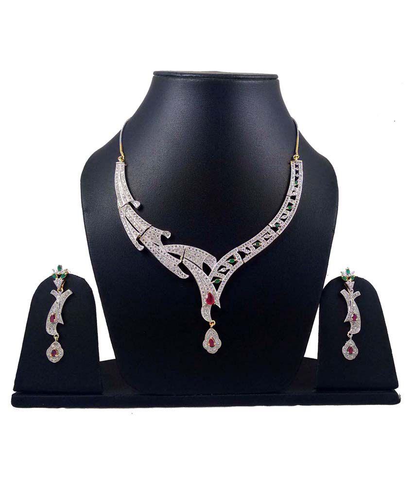 Hotpiper Silver Alloy Necklace Set