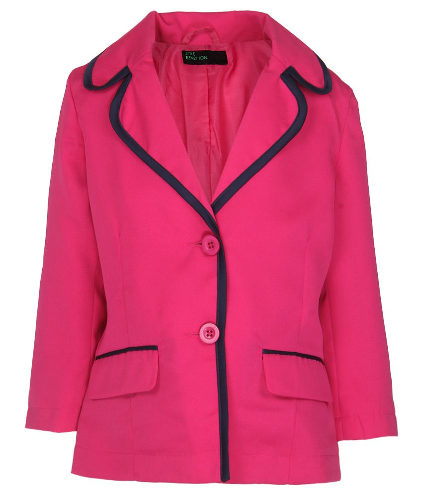 United Colors Of Benetton Pink Buttoned Jacket