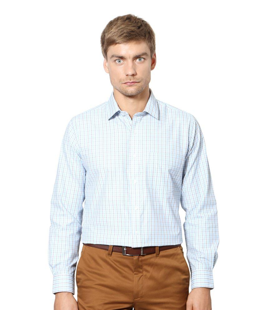 University of Oxford Blue Blended Cotton Shirt
